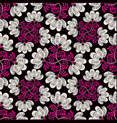 abstract floral seamless pattern geometric floral vector image