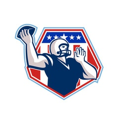 American Football Quarterback Shield vector image