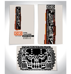 Ancient Business card design LETTER l vector