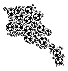 armenia map collage of soccer balls vector image