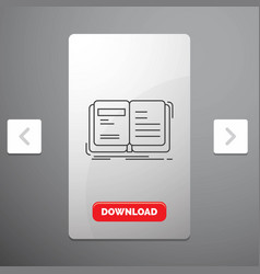 Author book open story storytelling line icon in vector