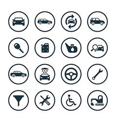 Auto icons universal set vector