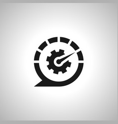 Auto talk customer service symbol icon vector