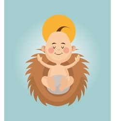 Baby jesus cartoon design vector