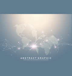 Big data complex world globe graphic abstract vector