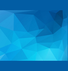 blue mosaic triangle background vector image