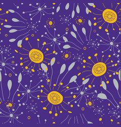 bright burst colors with doodle style flowers vector image