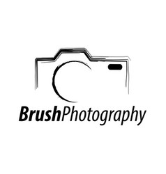 Brush photography abstract camera icon logo vector