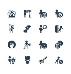 Business and personal development concepts icon vector