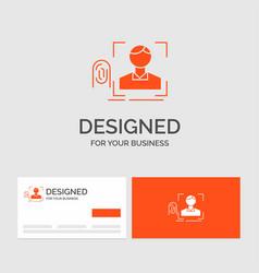 business logo template for finger fingerprint vector image