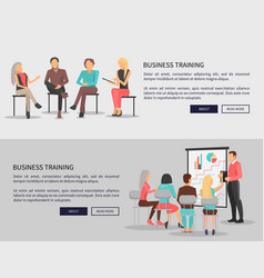 business training for workers vector image vector image