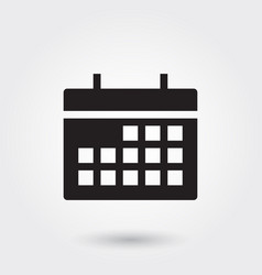 Calendar glyph icon for any purposes perfect for vector