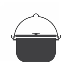 Camping Pot Icon vector