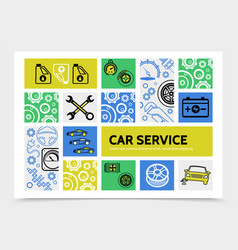 car service infographic template vector image