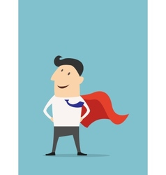 Cartoon businessman Super Hero vector image