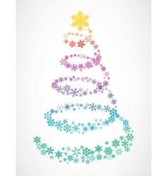 Christmas tree snowflakes vector