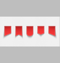 collection red sale tags labels vector image