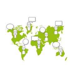 Communication bubble design vector