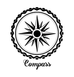 compass emblem design vector image