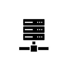 computer server web storage flat icon vector image