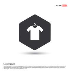 Cotton t-shirt icon vector