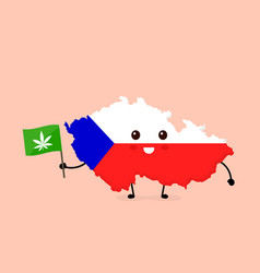 cute funny smiling happy czech vector image