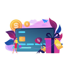 debit card concept vector image