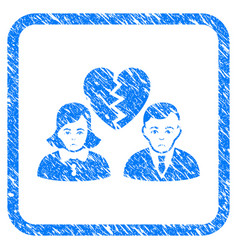 Divorce people framed stamp vector