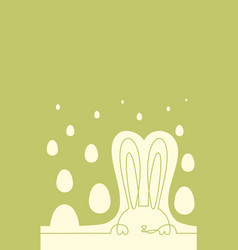 easter bunny and eggs continuous one line drawing vector image