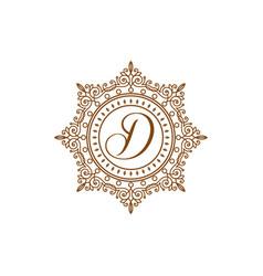 elegant luxury monogram classic ornamental vector image