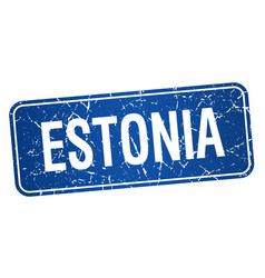 Estonia blue stamp isolated on white background vector
