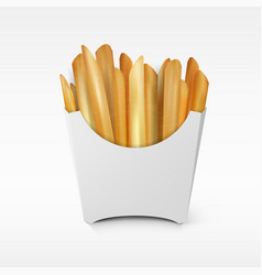 fast food white paper french fries take away box vector image