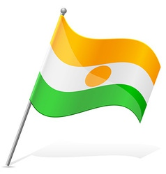 flag of Niger vector image