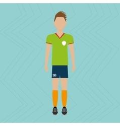 football soccer design vector image