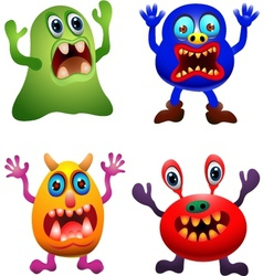 funny monster collection vector image
