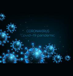 futuristic coronavirus covid-19 web banner vector image