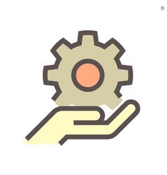 gear shape engineering concept icon design vector image