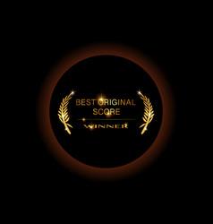 gold best original score concept awards winner vector image