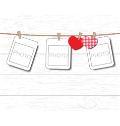 Greeting card with valentine day vector image