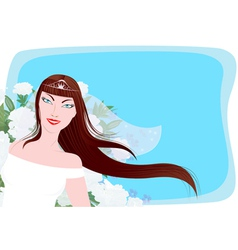 Happy bride vector image