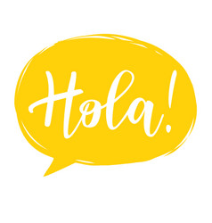 hola calligraphy vector image