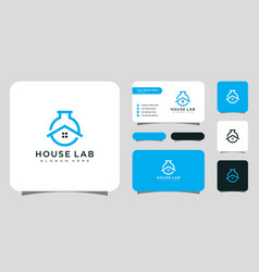 house lab home laboratory logo vector image