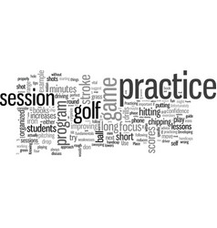 How to practice golf properly vector