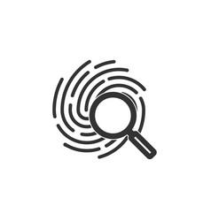 identification symbol fingerprint icon vector image
