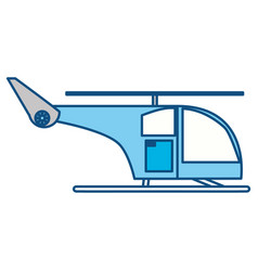 isolated cute helicopter vector image