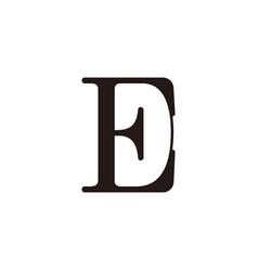 letter ed negative space simple symbol logo vector image