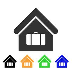 Luggage room icon vector