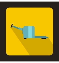 Manual forklift pallet stacker truck icon vector