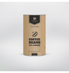 Mockup coffee packaging vector image