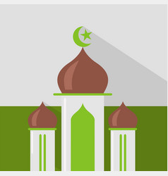 mosque icon set of great flat icons design vector image